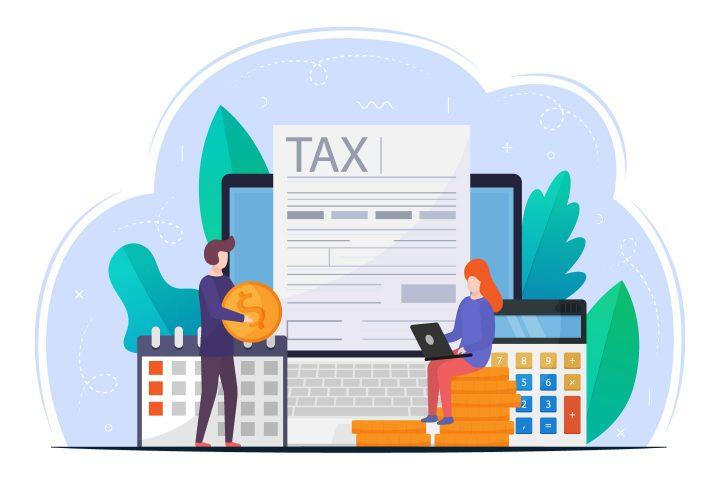Online Tax Payment Vector Design Concept