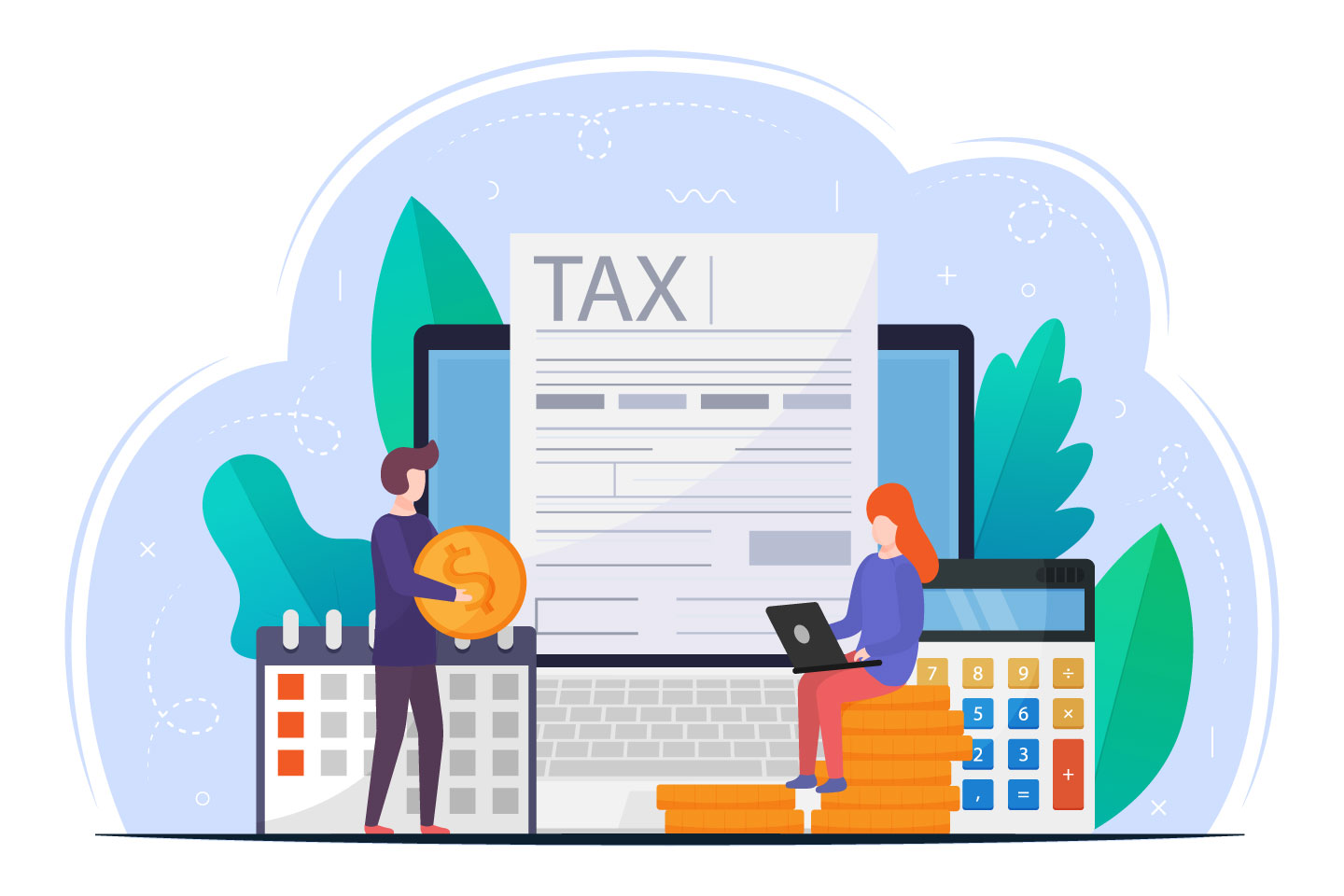 Online Tax Payment Vector Design Concept