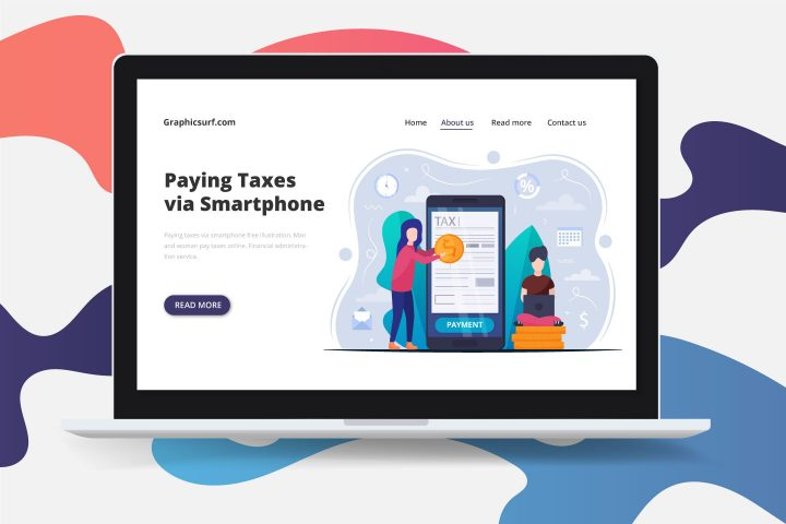 Paying Taxes via Smartphone Free Illustration