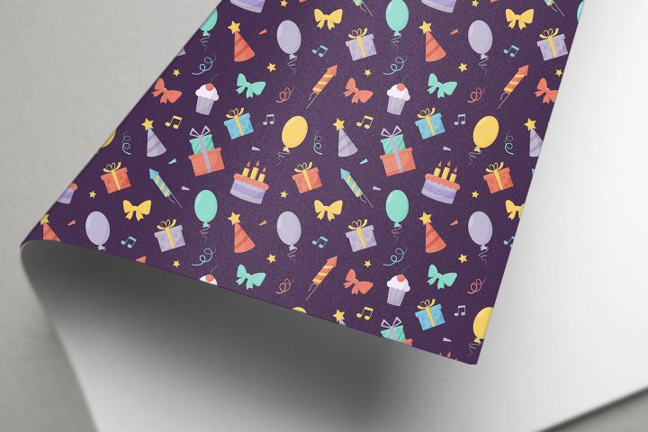 Birthday Free Seamless Pattern in Flat Style