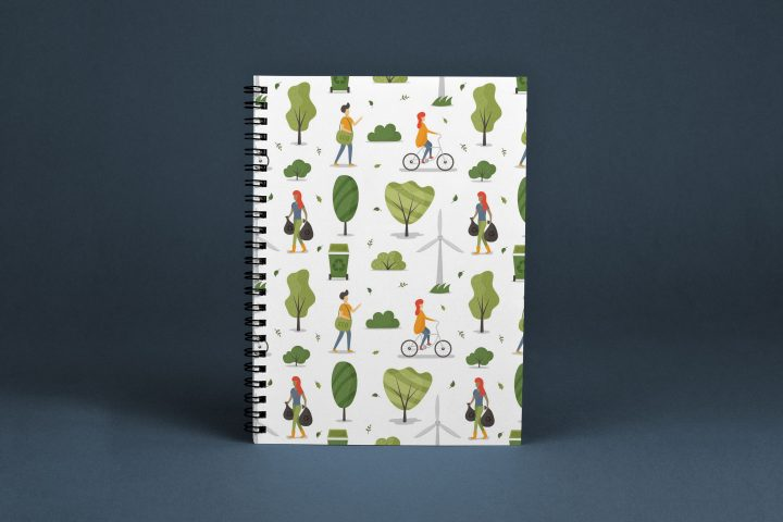 Ecology Concept Vector Free Seamless Pattern