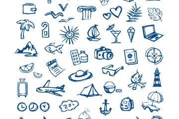 Tourism Sketch Icons