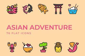 Asian Adventure Icons