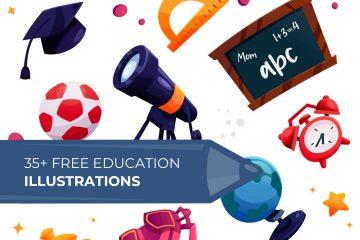35 Free Education Illustrations