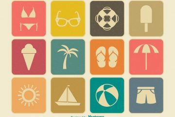 Vintage Summer Icons