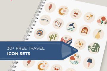 30 Free Travel Icon Sets