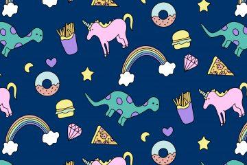Unicorn and Dinosaur