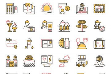 Duotone Travel and Tourism Icons