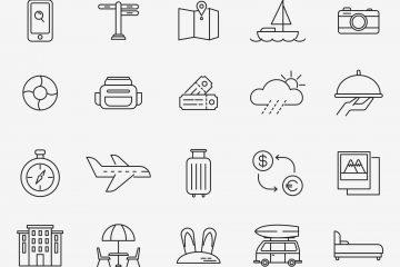 Travel Minimal Icons