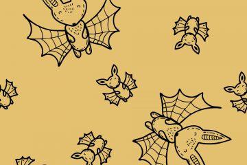 Cartoon Halloween Bats