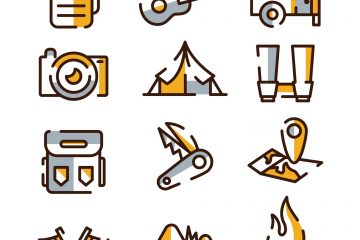 Summer Camping Icons